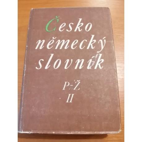 Česko-nemecký slovník , časť česko-nemecká