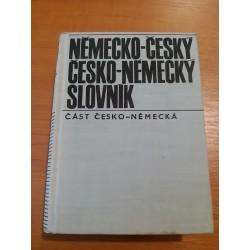 Německo-český, Česko-německý slovník (Část česko-německá)