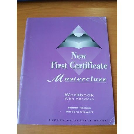 Masterclass – New first certificate, workbook with answers