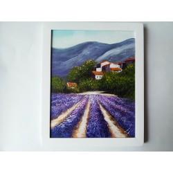 Obraz Lány fialových levandúľ