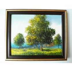 Obraz Stromy pri jazere