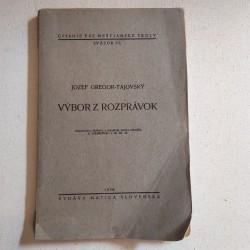 Jozef Gregor Tajovský - Výbor z rozprávok