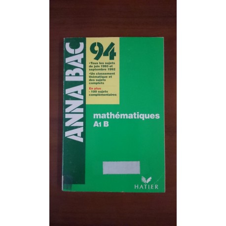 Mathematiques A1 B