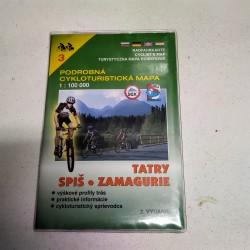 Podrobná cykloturistická mapa - Tatry, Spiš, Zamagurie 1:100 000